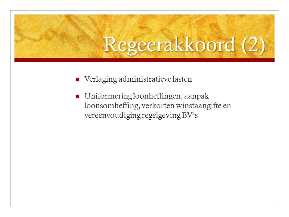 OB: Reisbureauregeling Huidige vervalt per 1-4-2011 Nieuwe regeling BTW over marge in land van vestiging Geen teruggave voor buitenlandse BTW (bijv.