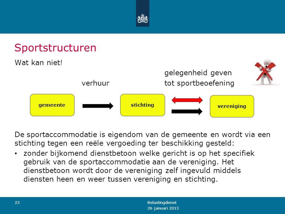 Sportstructuren Wat kan niet.