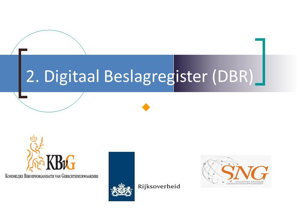 2. Digitaal Beslagregister (DBR) 