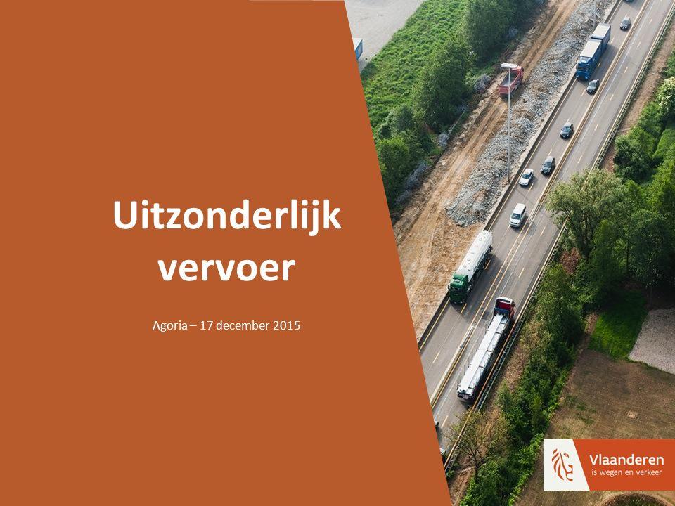 Uitzonderlijk vervoer Agoria – 17 december 2015