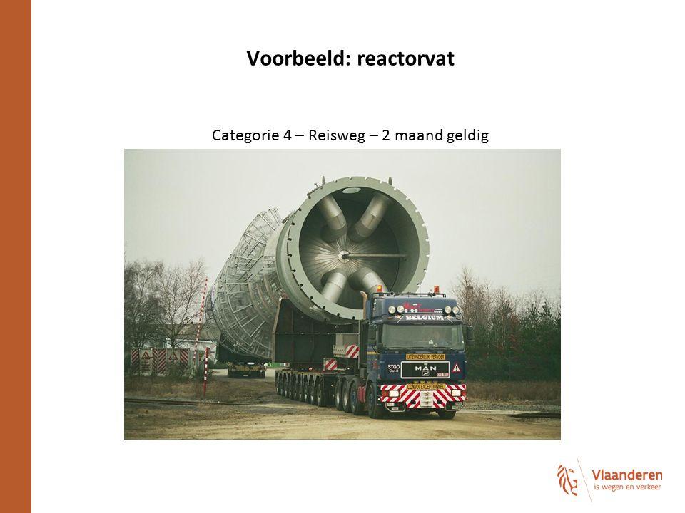 Voorbeeld: reactorvat Categorie 4 – Reisweg – 2 maand geldig