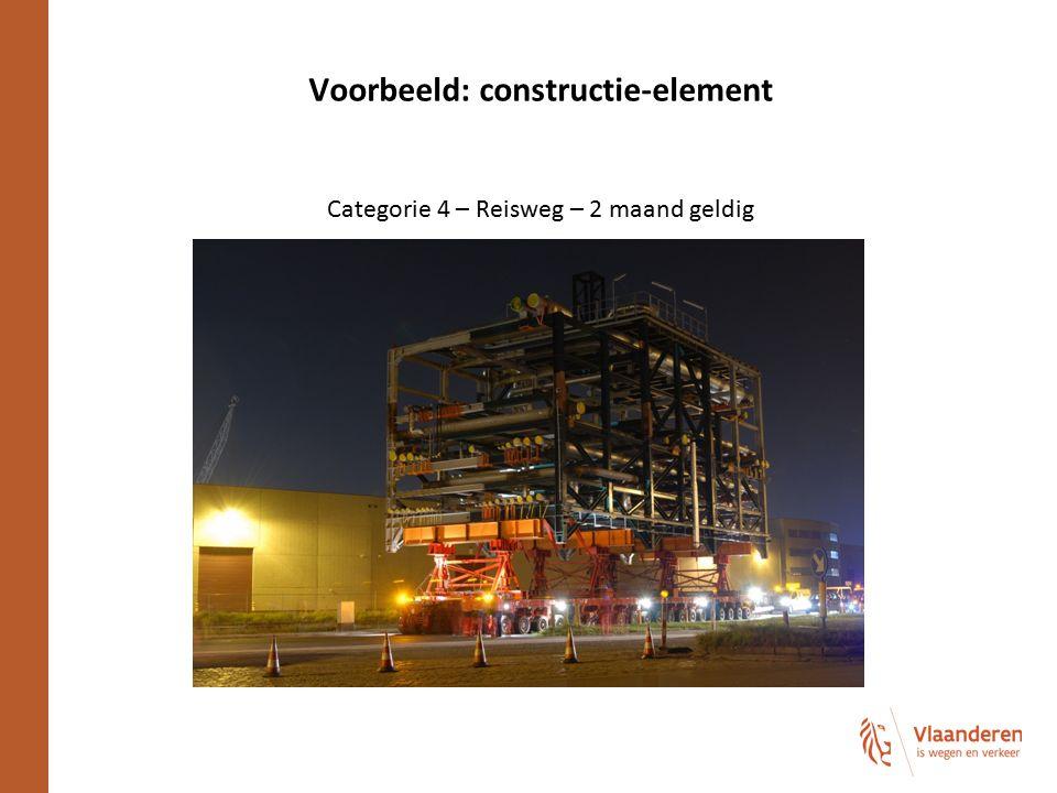 Voorbeeld: constructie-element Categorie 4 – Reisweg – 2 maand geldig