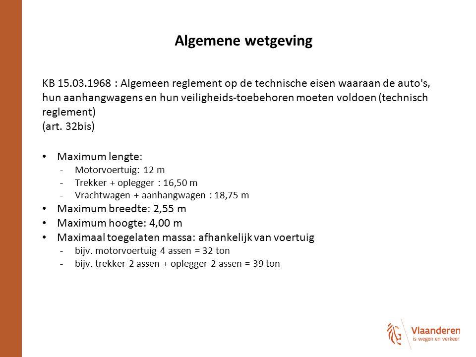 Algemene wetgeving KB 15.03.1968 : Algemeen reglement op de technische eisen waaraan de auto's, hun aanhangwagens en hun veiligheids-toebehoren moeten