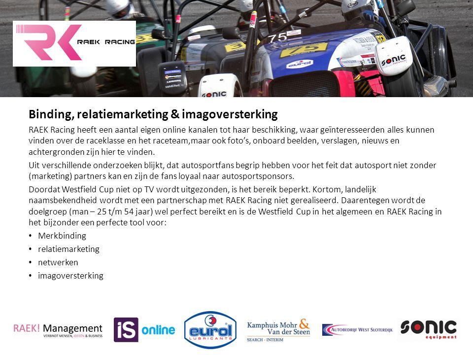 Binding, relatiemarketing & imagoversterking RAEK Racing heeft een aantal eigen online kanalen tot haar beschikking, waar geïnteresseerden alles kunne
