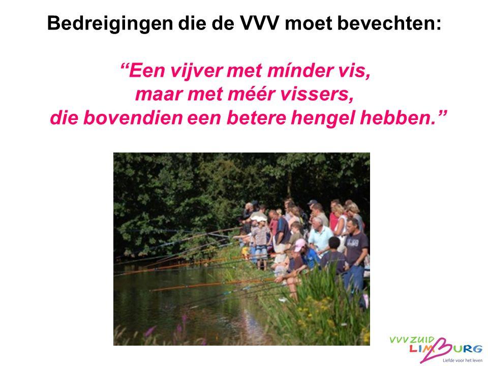 """Bedreigingen die de VVV moet bevechten: """"Een vijver met mínder vis, maar met méér vissers, die bovendien een betere hengel hebben."""""""