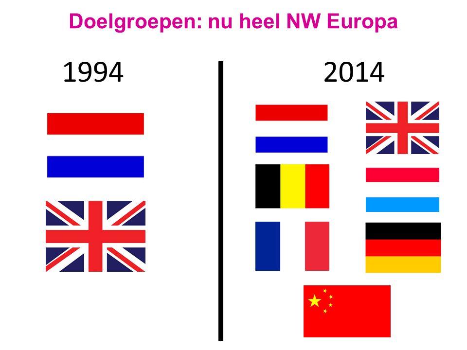 1994 Doelgroepen: nu heel NW Europa 2014