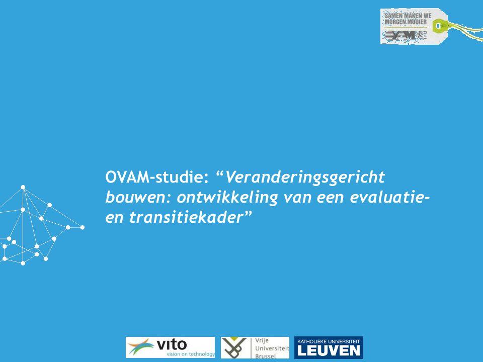 """OVAM-studie: """"Veranderingsgericht bouwen: ontwikkeling van een evaluatie- en transitiekader"""""""