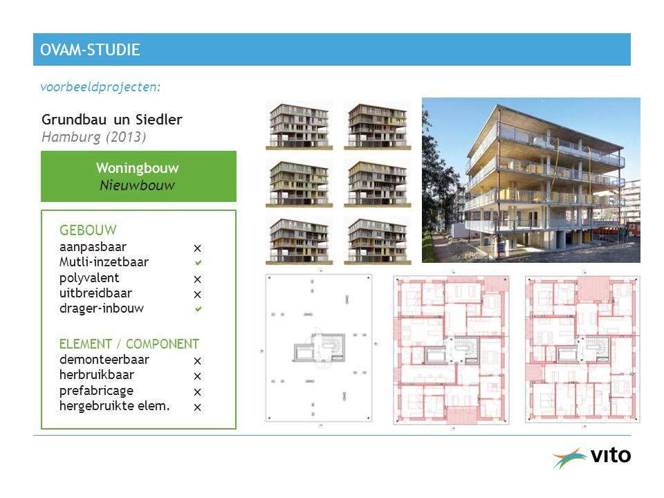 Grundbau un Siedler Hamburg (2013) Woningbouw Nieuwbouw GEBOUW aanpasbaar  Mutli-inzetbaar  polyvalent  uitbreidbaar  drager-inbouw  ELEMENT / COMPONENT demonteerbaar  herbruikbaar  prefabricage  hergebruikte elem.