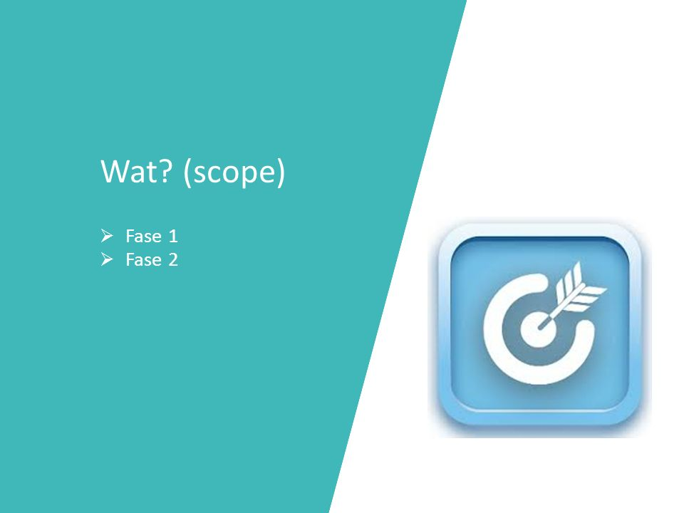 Wat? (scope)  Fase 1  Fase 2
