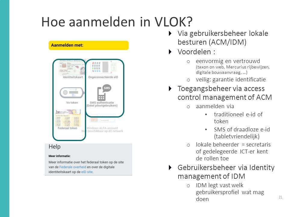 Hoe aanmelden in VLOK.
