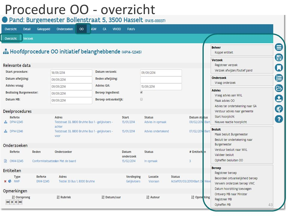 Procedure OO - overzicht 43