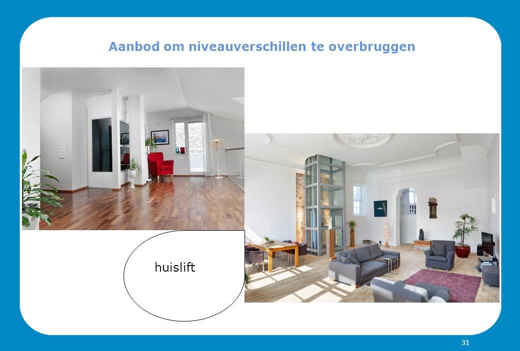 Aanbod om niveauverschillen te overbruggen huislift 31