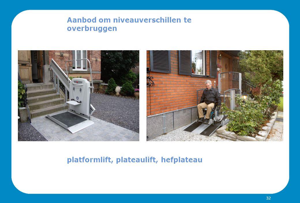 Aanbod om niveauverschillen te overbruggen platformlift, plateaulift, hefplateau 32