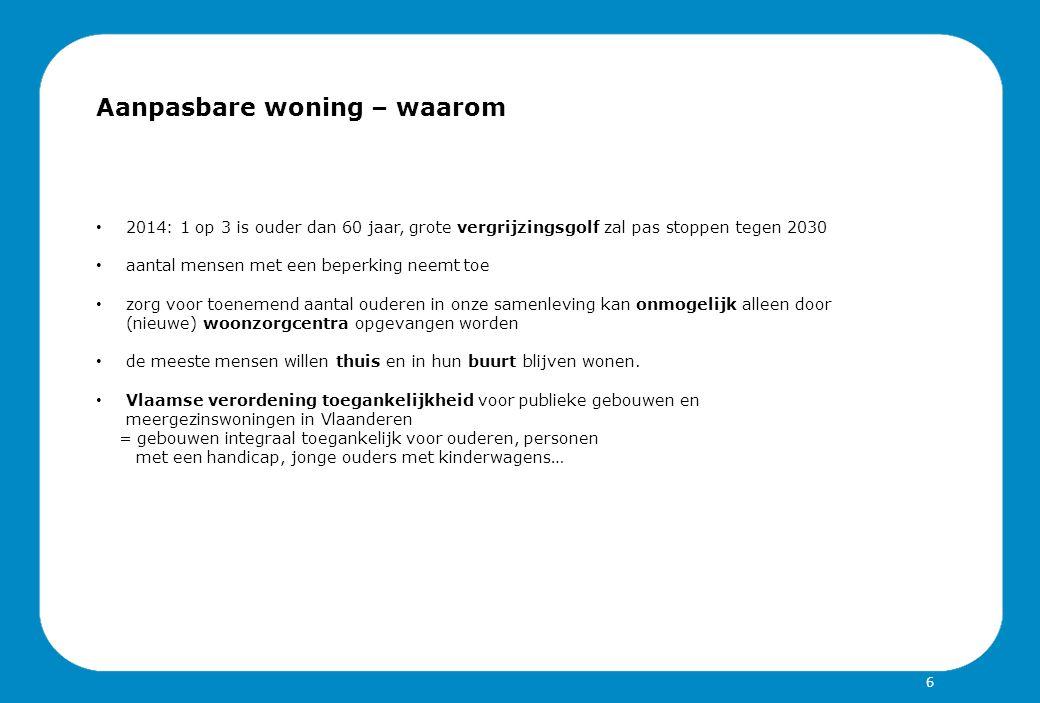 Gent: Charter aanpasbaar bouwen Project GOLLD overgegaan van OCMW naar toegankelijkheidsambtenaar in juni 2013 = Gentse Ontwerpen Levenslang bestendig design Charter met Stadsontwikkeling Gent wordt vernieuwd Engagement van de Gentse sociale woningenmaatschappijen om het charter te ondertekenen Ambitie: Uitbreiden voor alle private woonprojecten op het grondgebied Gent 37
