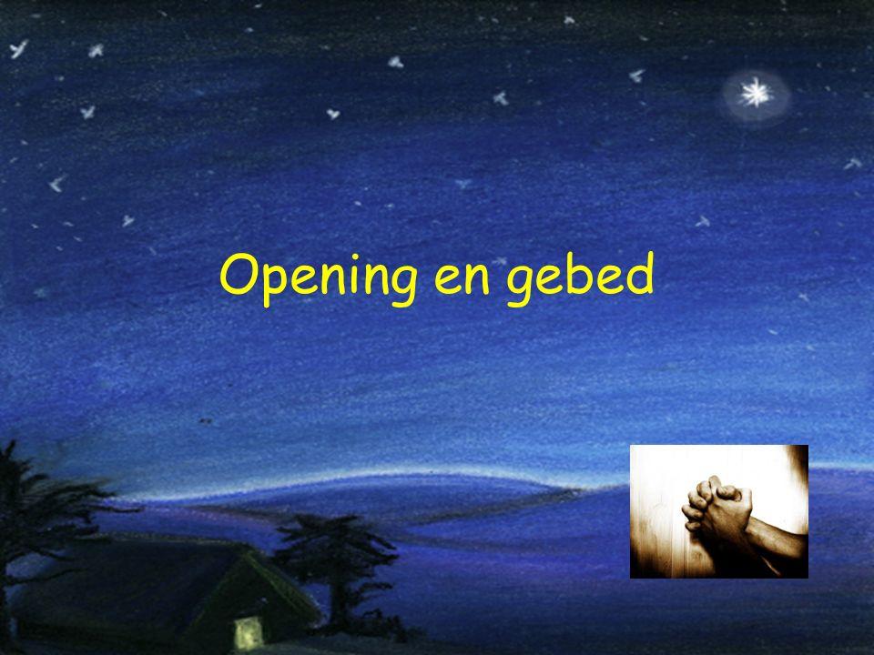 Opening en gebed