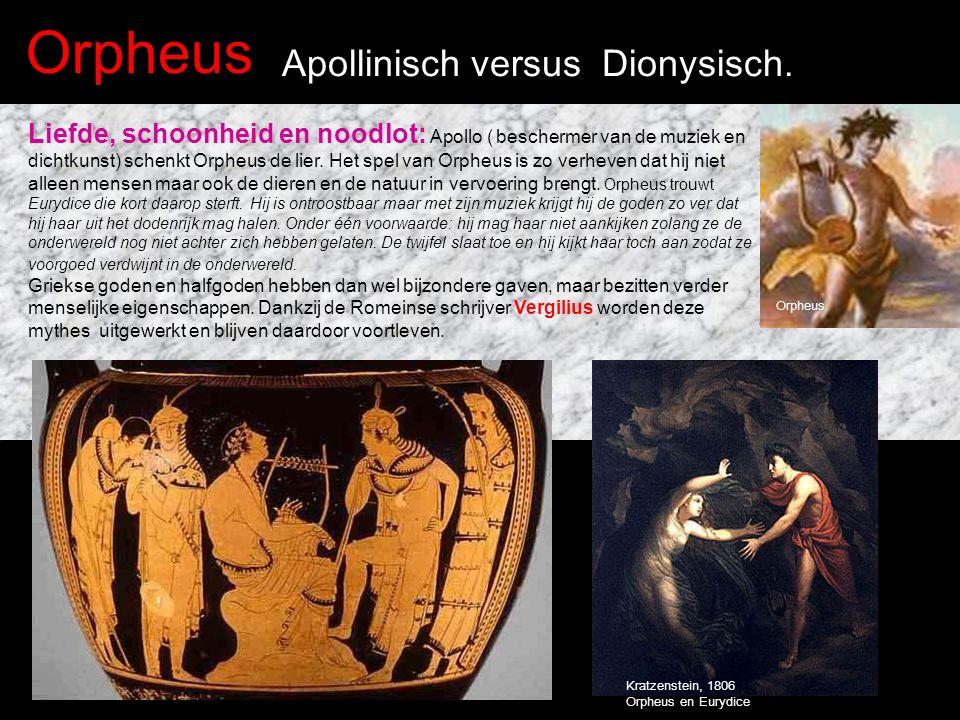 Orpheus Apollinisch versus Dionysisch.