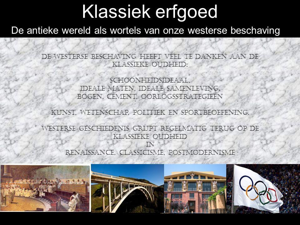 Klassiek erfgoed: Egeïsche cultuur De Griekse beschaving werd voorafgegaan door de Egeïsche cultuur.