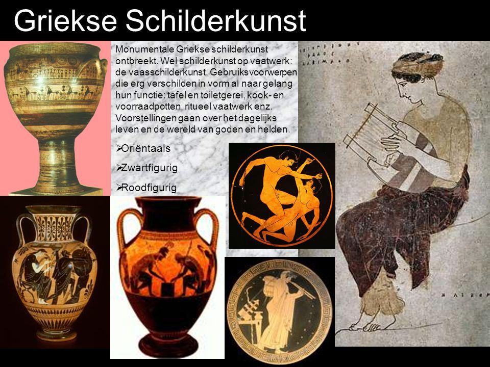 Griekse Schilderkunst Monumentale Griekse schilderkunst ontbreekt.