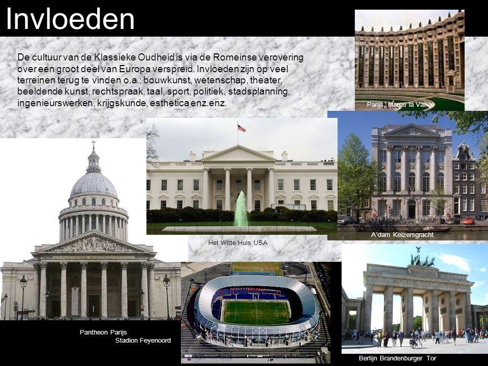 Invloeden De cultuur van de Klassieke Oudheid is via de Romeinse verovering over een groot deel van Europa verspreid.