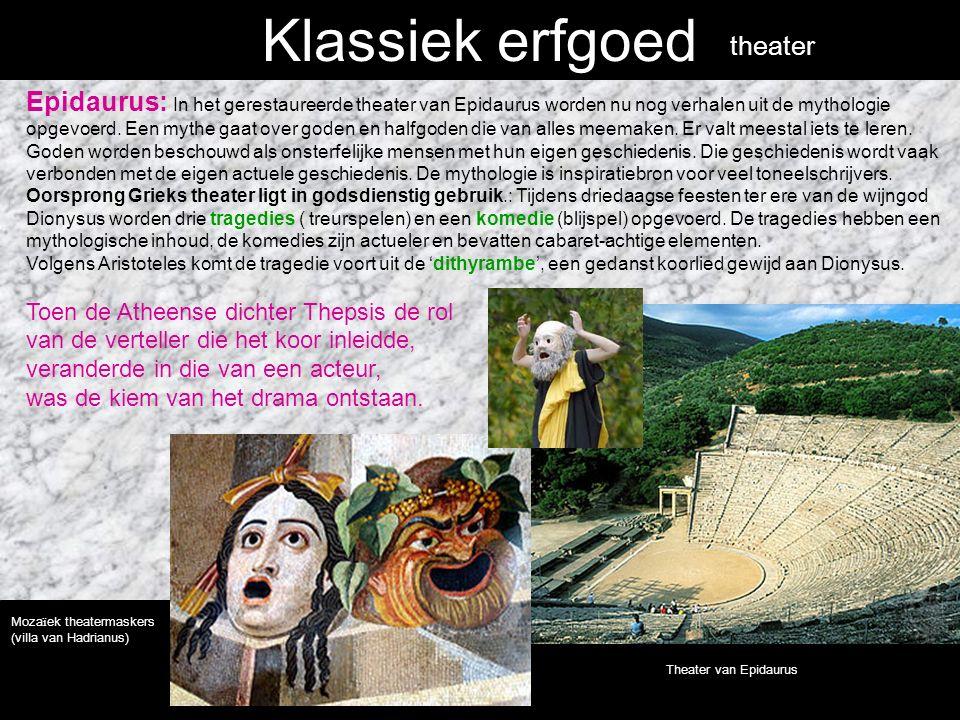 Klassiek erfgoed Epidaurus: In het gerestaureerde theater van Epidaurus worden nu nog verhalen uit de mythologie opgevoerd.