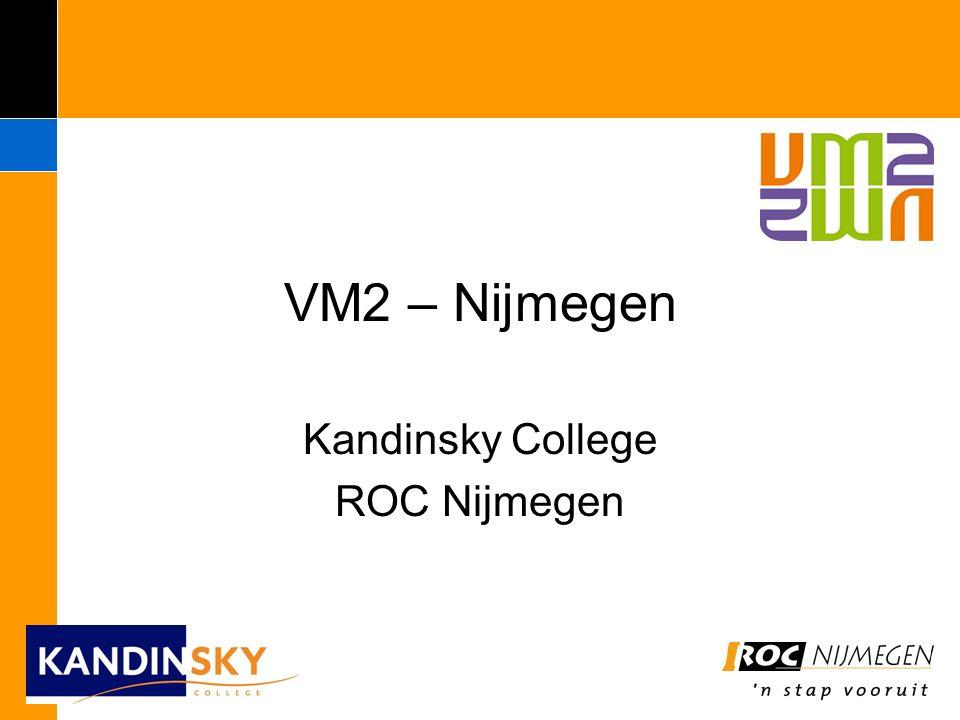 VM2 VMBO leerjaar 1 t/m 4 - basisberoepsgerichte leerweg VMBO-locatie VMBO-opleidingsteam MBO – niveau 2 ROC-locatie ROC-opleidingsteam VMB0 leerjaar 1 en 2 basis / kader VM2: 1 locatie 1 docententeam 3 – 4 jaar 1 pedagogisch-didactische aanpak Diploma MBO2 Standaard leerrouteVM2 leerroute