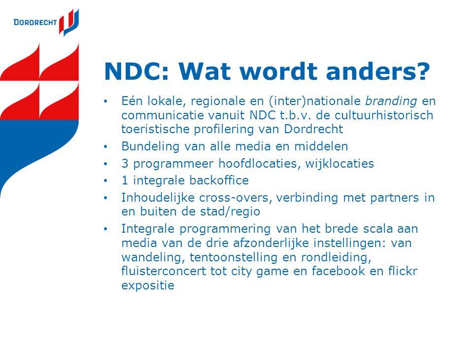 NDC: Wat wordt anders.