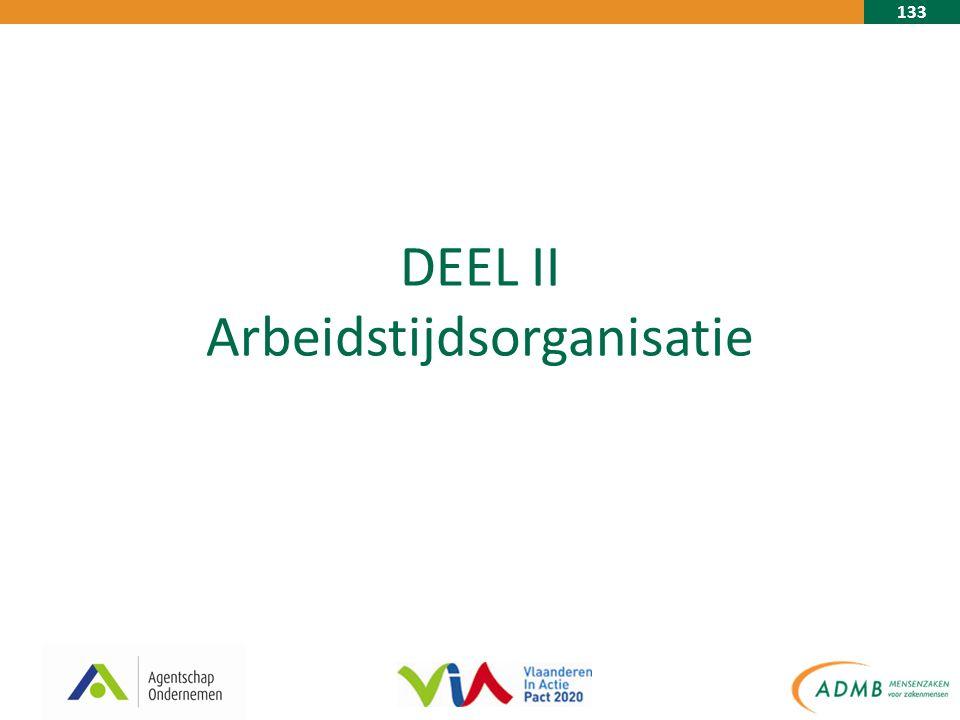 133 DEEL II Arbeidstijdsorganisatie