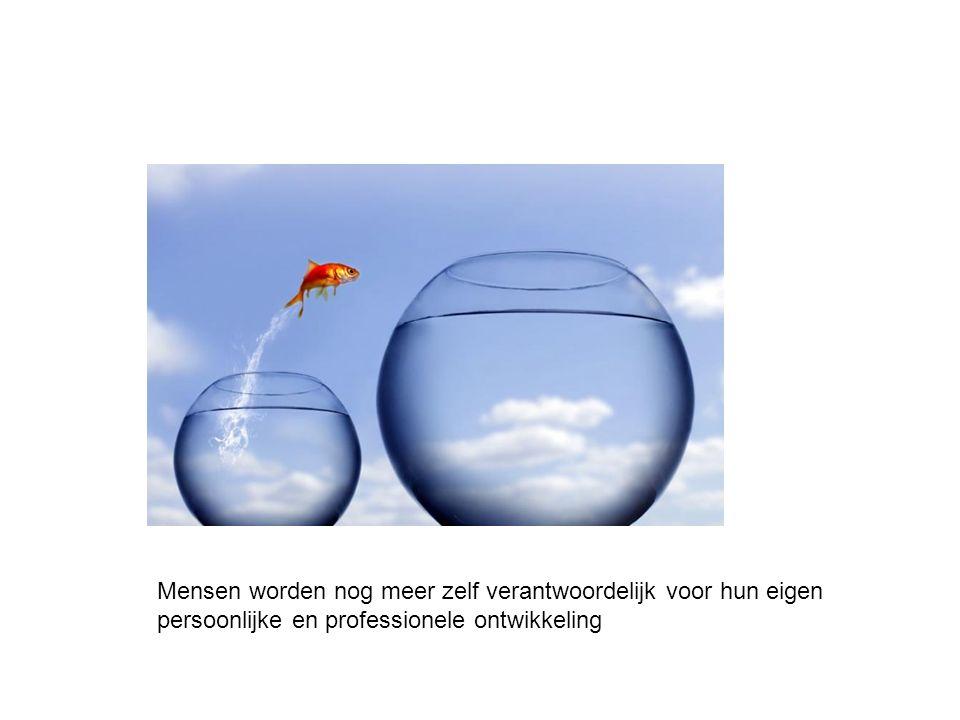 Mensen worden nog meer zelf verantwoordelijk voor hun eigen persoonlijke en professionele ontwikkeling