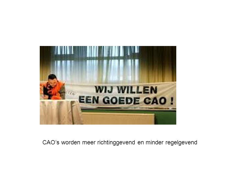 CAO's worden meer richtinggevend en minder regelgevend