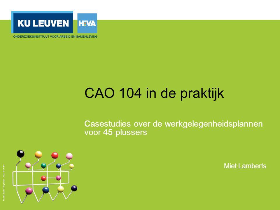 Pollet I.& Lamberts M. (2015), CAO 104 in de praktijk.
