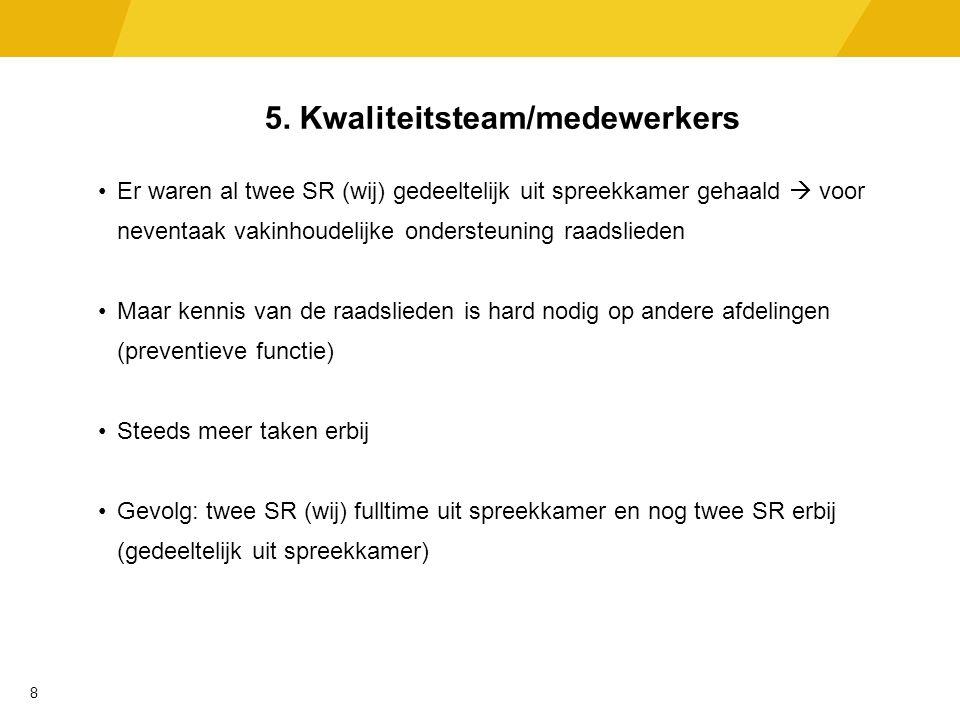 6.Vakinhoudelijke ondersteuning SJD 1. Coachen/begeleiden medewerkers op de werkvloer 2.