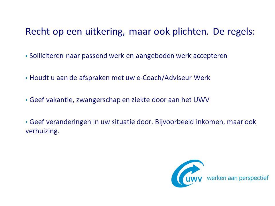 Communiceren met het UWV kan telefonisch via 0900-9294, maar geschiedt meer en meer via uw persoonlijke, digitale Werkmap op WERK.NL
