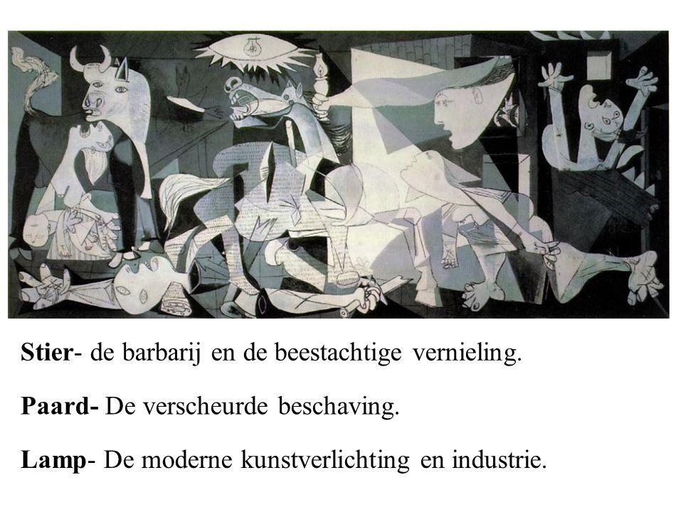 Stier- de barbarij en de beestachtige vernieling.Paard- De verscheurde beschaving.