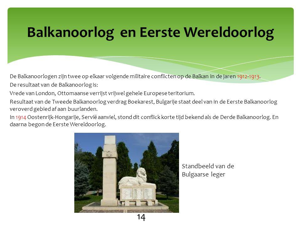 Balkanoorlog en Eerste Wereldoorlog 14 Standbeeld van de Bulgaarse leger