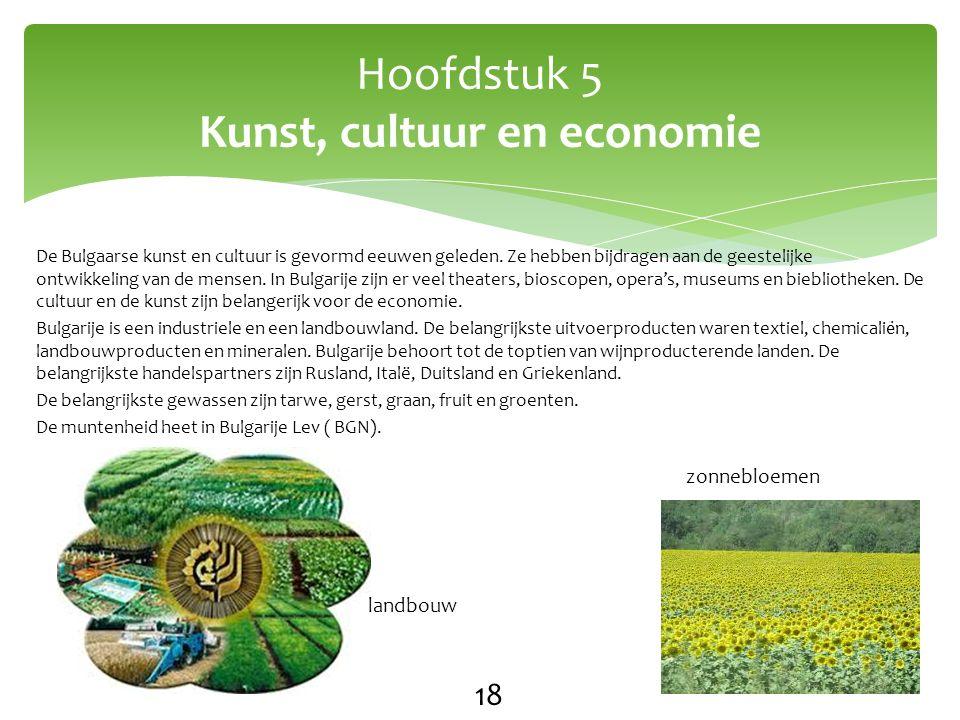 Hoofdstuk 5 Kunst, cultuur en economie 18 zonnebloemen landbouw