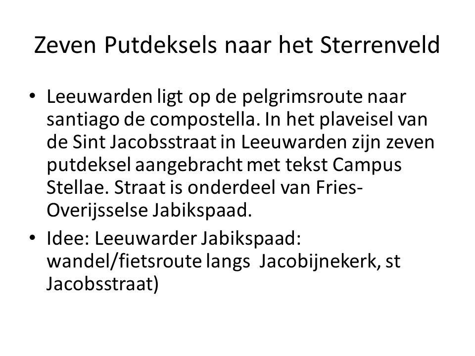Zeven Putdeksels naar het Sterrenveld Leeuwarden ligt op de pelgrimsroute naar santiago de compostella.