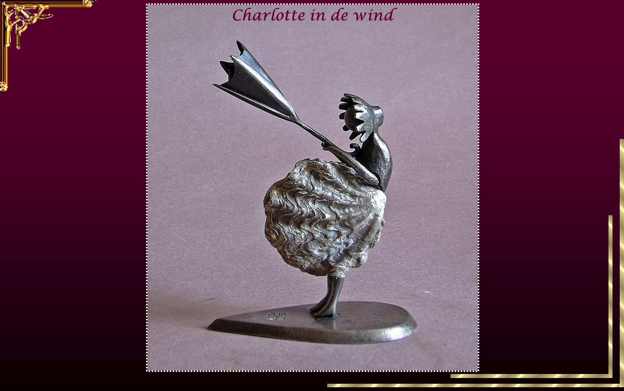 Charlotte in de wind