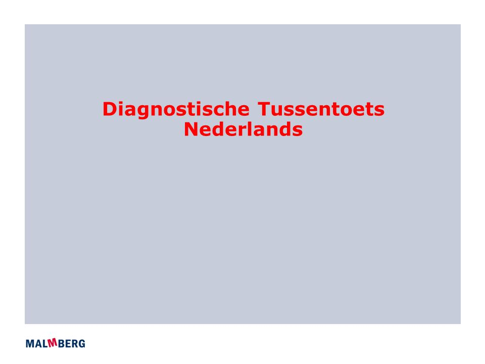 Diagnostische Tussentoets Nederlands