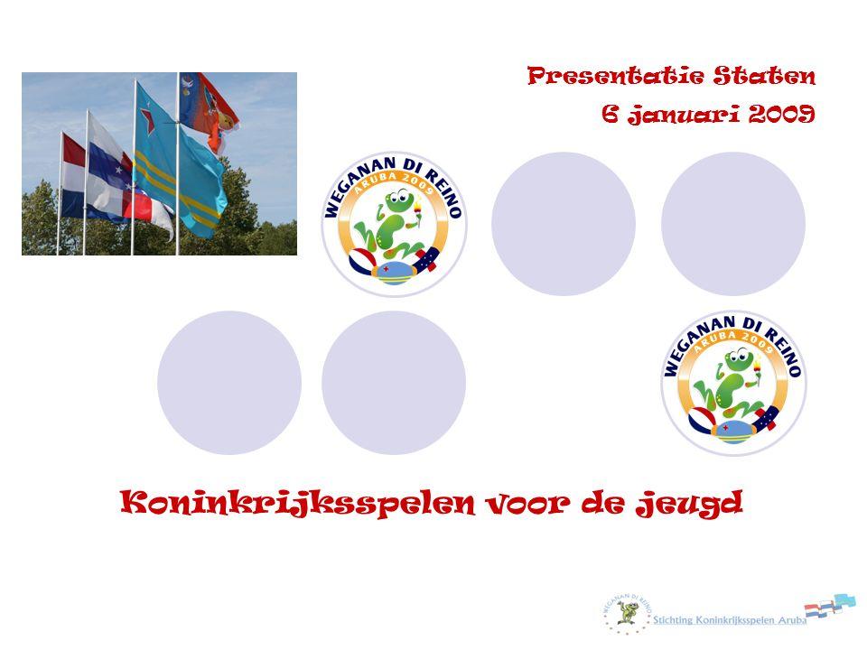 Koninkrijksspelen voor de jeugd Update: 5 jan. 2009 Presentatie Staten 6 januari 2009