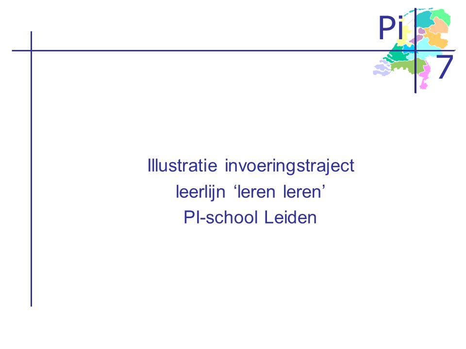 Pi 7 Illustratie invoeringstraject leerlijn 'leren leren' PI-school Leiden