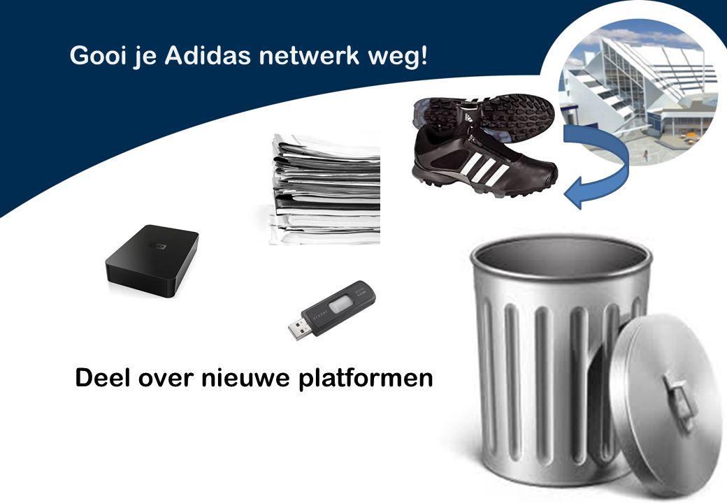 PowerPoint presentatie Lelystad Gooi je Adidas netwerk weg! Deel over nieuwe platformen
