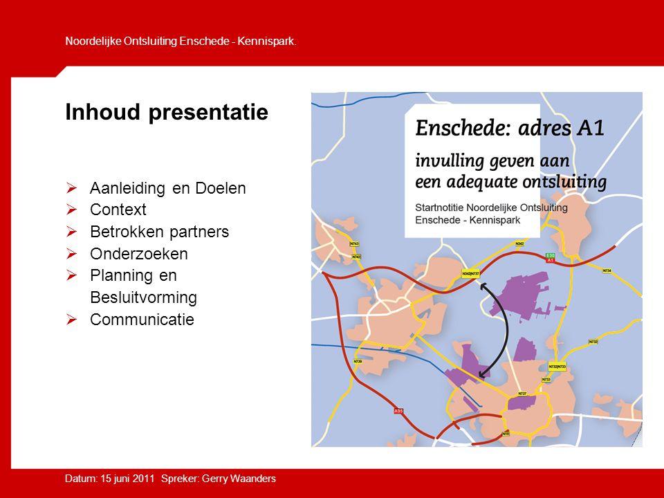 Noordelijke Ontsluiting Enschede - Kennispark.