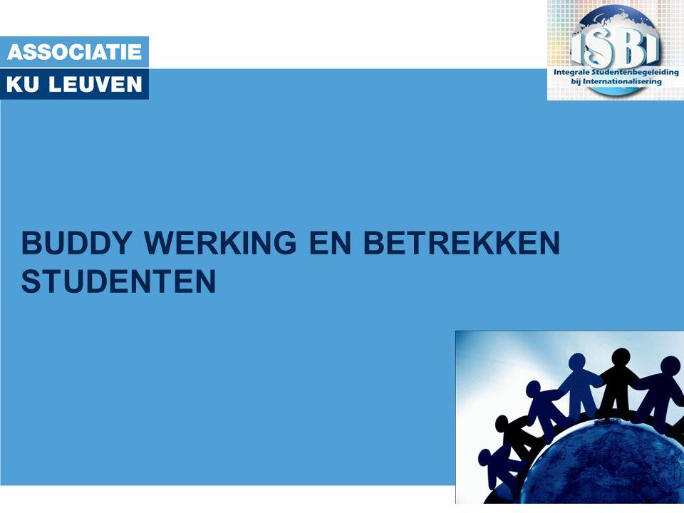 met de steun van het Onderwijsontwikkelingsfonds Associatie KU Leuven Doel Buddy-programma -Inkomende studenten: -ondersteunen bij de voorbereiding van hun komst -persoonlijk opvangen bij aankomst -helpen integreren met het oog op een zo aangenaam mogelijk verblijf -Eigen studenten: -Een I@H ervaring aanbieden -Soms ter voorbereiding van hun eigen uitwisseling -Ontwikkeling van internationaal-interculturele competenties bij niet-mobiele studenten 7