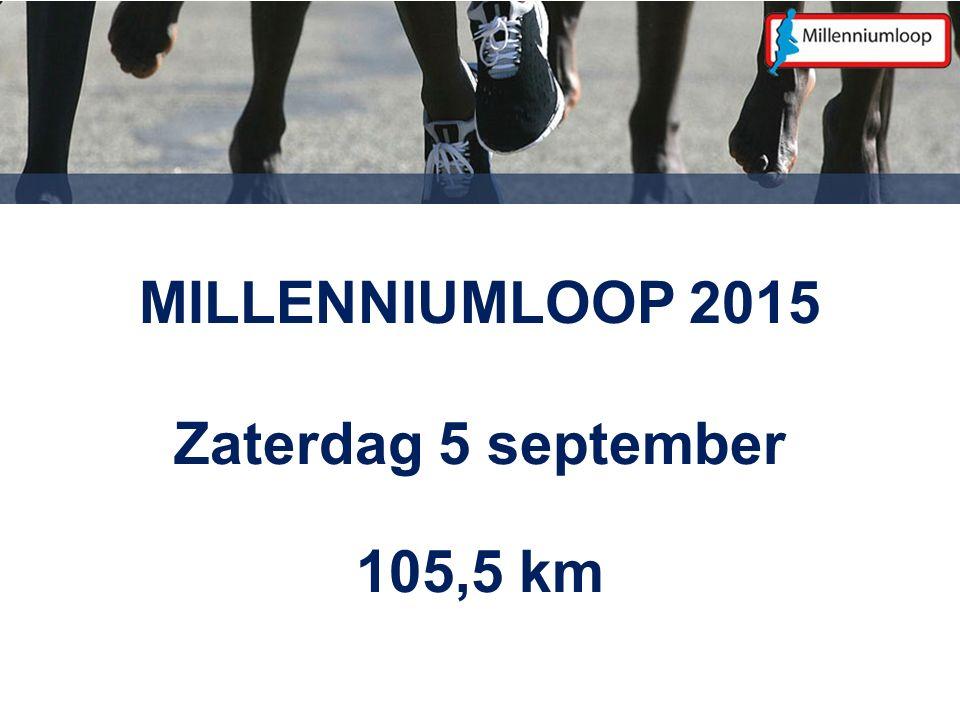 MILLENNIUMLOOP 2015 Zaterdag 5 september 105,5 km