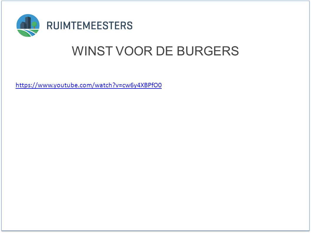 https://www.youtube.com/watch v=cw6y4XBPfO0 WINST VOOR DE BURGERS