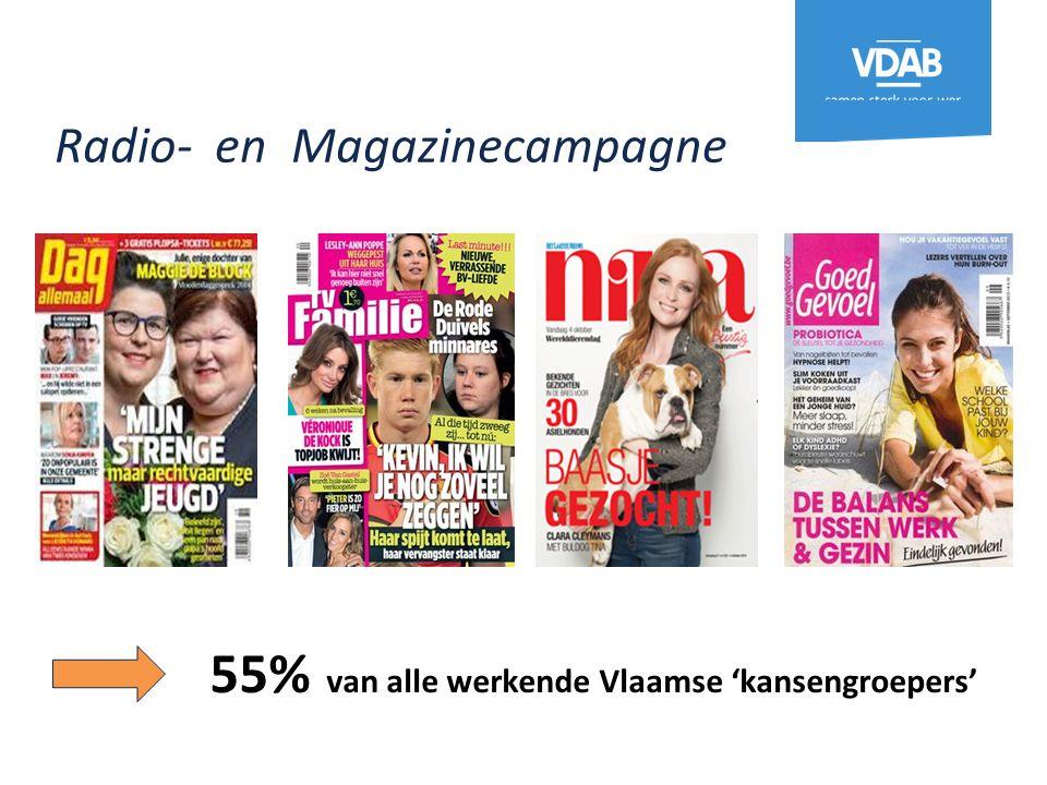 Radio- en Magazinecampagne 55% van alle werkende Vlaamse 'kansengroepers'