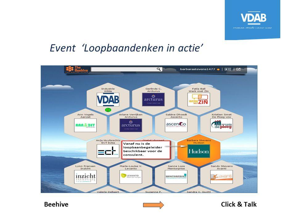 Event 'Loopbaandenken in actie' Beehive Click & Talk