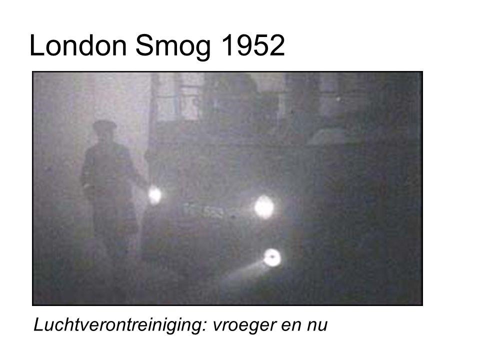 London Smog 1952 Luchtverontreiniging: vroeger en nu