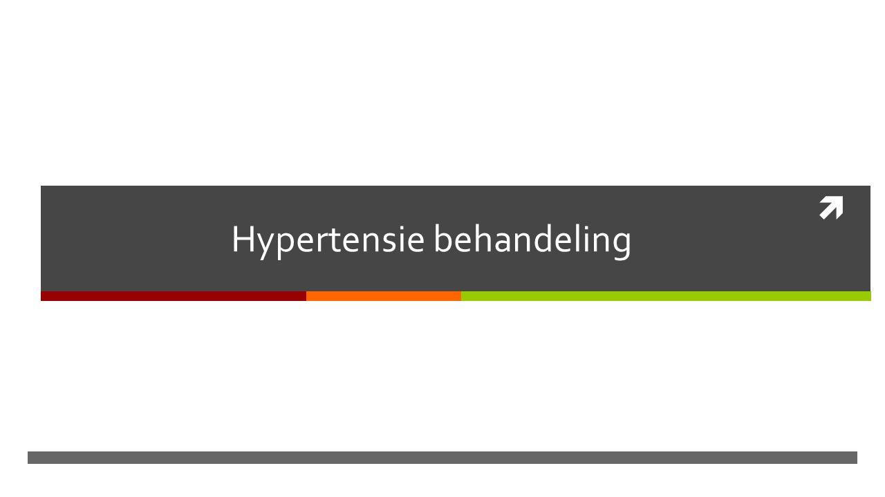  Hypertensie behandeling