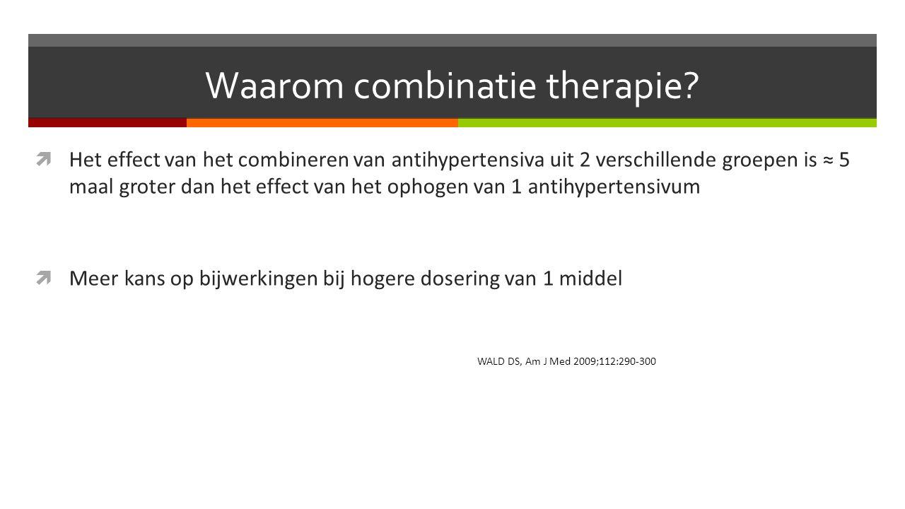 Waarom combinatie therapie.
